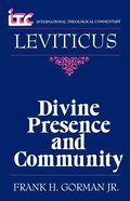 Itc Leviticus (International Theological Commentary Series)