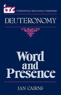 Deuteronomy (International Theological Commentary Series) Paperback