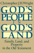 God's People in God's Land Paperback