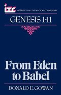 Itc Genesis 1-11 (International Theological Commentary Series) Paperback