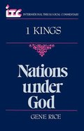 Itc 1 Kings Nations Under God (International Theological Commentary Series)