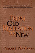 From Old Revelation to New Paperback
