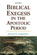 Biblical Exegesis in the Apostolic Period (2nd Edition) Paperback