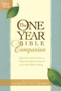 The One Year Bible Companion Paperback