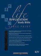 KJV Life Application Study Large Print Black (Red Letter Edition)