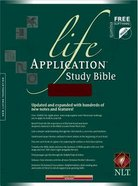 NLT Life Application Study Bible Burgundy Leatherlike Imitation Leather