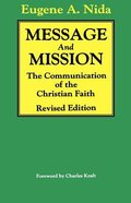 Message and Missions Paperback