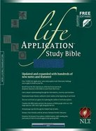 NLT Life Application Study Bible Navy (Red Letter Edition) Bonded Leather