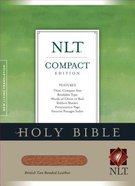 NLT Compact Bible British Tan (Red Letter Edition) Genuine Leather