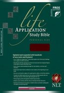 NLT Life Application Study Personal Size Burgundy Bonded Leather
