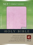 NLT Compact Bible Grey/Pink Suede (Red Letter Edition) Imitation Leather