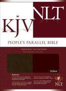 NLT KJV People's Parallel Walnut Burgundy Tutone Imitation Leather