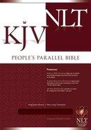 NLT KJV People's Parallel Burgundy Bonded Leather