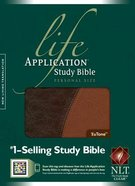 NLT Life Application Study Personal Size Brown/Tan Imitation Leather