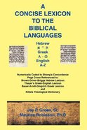 A Concise Lexicon to the Biblical Languages Paperback