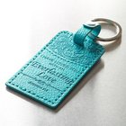 Luxleather Keyring: I Have Loved You With An Everlasting Love Turquoise