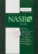NASB Updated Wide-Margin Reference Green (Red Letter Edition) Hardback