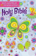 ICB Butterfly Sparkle Bible Includes 16 Page Coloring Book and Stickers Hardback