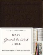 NKJV Journal the Word Bible Brown Bonded Leather Red Letter Edition