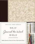 NKJV Journal the Word Bible Brown/Cream (Red Letter Edition) Premium Imitation Leather