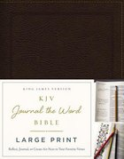KJV Journal the Word Bible Large Print Brown (Red Letter Edition)