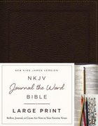 NKJV Journal the Word Bible Large Print Brown (Red Letter Edition)