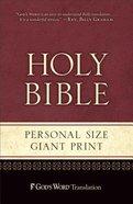 God's Word Personal Size Giant Print Burgundy Duravella Imitation Leather
