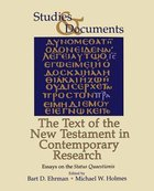 The Text of the New Testament in Contemporary Research Paperback