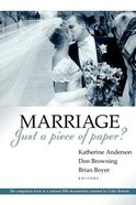 Marriage - Just a Piece of Paper? Paperback