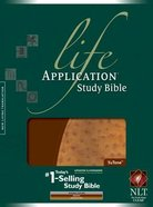 NLT Life Application Study Bible Indexed Brown/Ostrich Bonded Leather