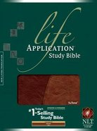 NLT Life Application Study Bible Indexed Brown/Tan Imitation Leather