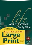 NLT Life Application Study Large Print Bible Indexed (Red Letter Edition)