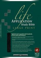 NLT Life Application Study Large Print Bible Black (Red Letter Edition) Bonded Leather