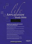 NKJV Life Application Study Bible 2nd Edition Indexed Black (Red Letter Edition) Bonded Leather