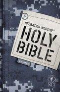 NLT Operation Worship Bible Navy Edition Blue Camo Paperback
