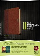 NLT Parallel Study Bible Indexed Brown/Tan (Black Letter Edition) Imitation Leather