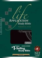 NLT Life Application Study Bible Personal Black Celtic Cross Indexed (Black Letter Edition) Imitation Leather