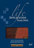 KJV Life Application Study Bible, Brown/Tan Imitation Leather