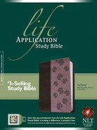 NLT Life Application Study Bible Dark Brown/Pink Flowers (Red Letter Edition)