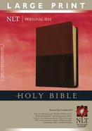 NLT Personal Size Indexed Large Print Bible Brown/Tan (Red Letter Edition) Imitation Leather