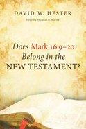 Does Mark 16 Paperback