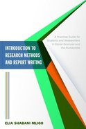 Introduction to Research Methods and Report Writing eBook