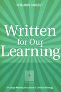 Written For Our Learning Paperback