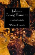 Johann Georg Hamann Paperback