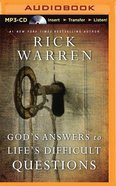 God's Answers to Life's Difficult Questions (Unabridged, Mp3) CD