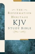 KJV Reformation Heritage Study Bible Tan/Burgundy Duo-Tone Imitation Leather