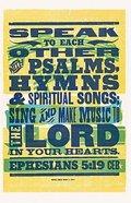 Ceb Sing and Make Music Eph 5: 19 Paperback