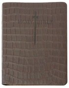 Kjver Thinline Bible Personal Size Brown T-Rex Ultrasoft Indexed Genuine Leather