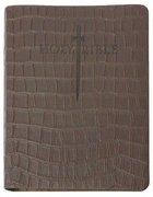 Kjver Thinline Bible Large Print Brown T-Rex Ultrasoft Genuine Leather