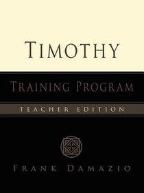 Timothy Training Program (Teachers Manual)